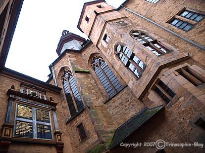"""Markgrafenschloss: """"Mir graute vor diesem Bau … Sobald ich das Schloss erblickte, rückte mir jenes Skelett immer näher, das im eisigen Wasser des Schlossbrunnens vermoderte."""" (DER ROTE LÖWE).Bild Heinz Knotek"""