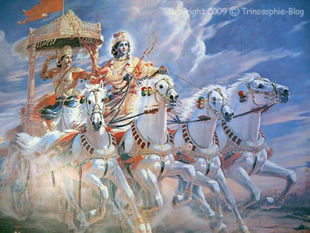 Arjuna und Krisha, Bhagavat Gita © Kô-Sen