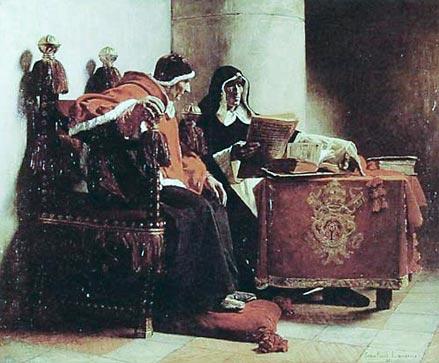 Jean-Paul Laurens, Le pape et l'inquisiteur Musée des Beaux-Arts de Bordeaux, 1882