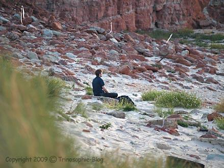 Meditation auf Helgoland © Kô-Sen