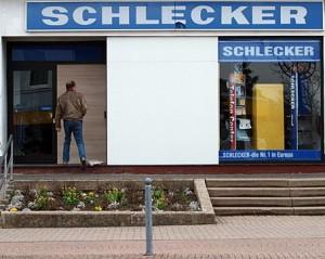 Schlecker-Filiale: verschlossen und verrammelt. Bild: Heinz Knotek