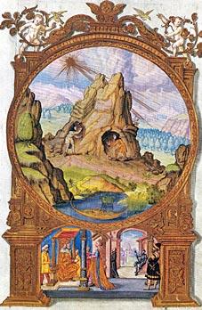 Alltägliche Rackerei - ein alchemisches Symbol. Abb. aus SPLENDOR SOLIS von Salomon rismosin (um 1582), Privatbesitz
