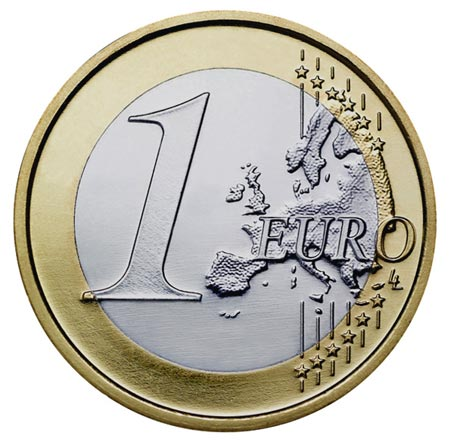 Common (or European) side of a €1 coin. © European Union